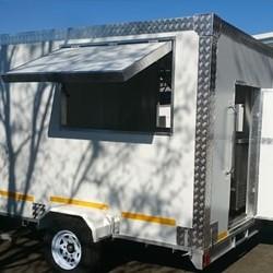 white mobile kitchen